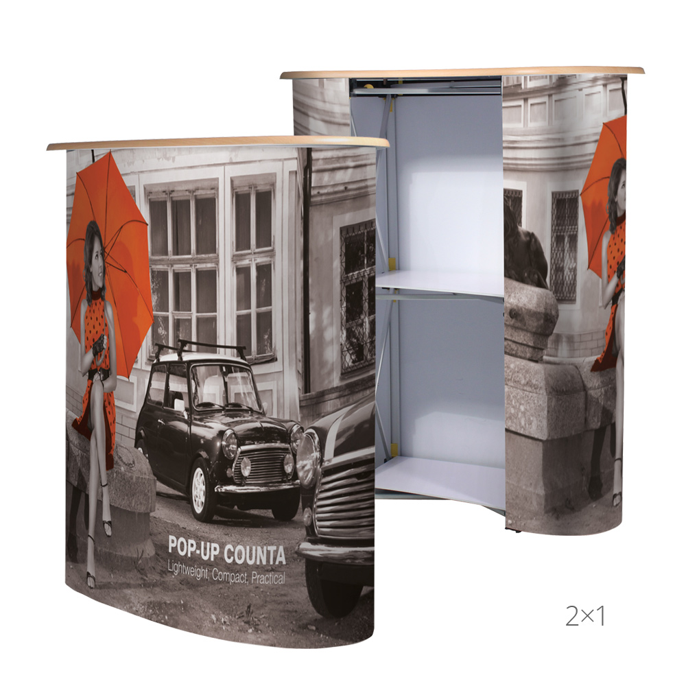 Pop-Up Counter 2x1 Front & Back