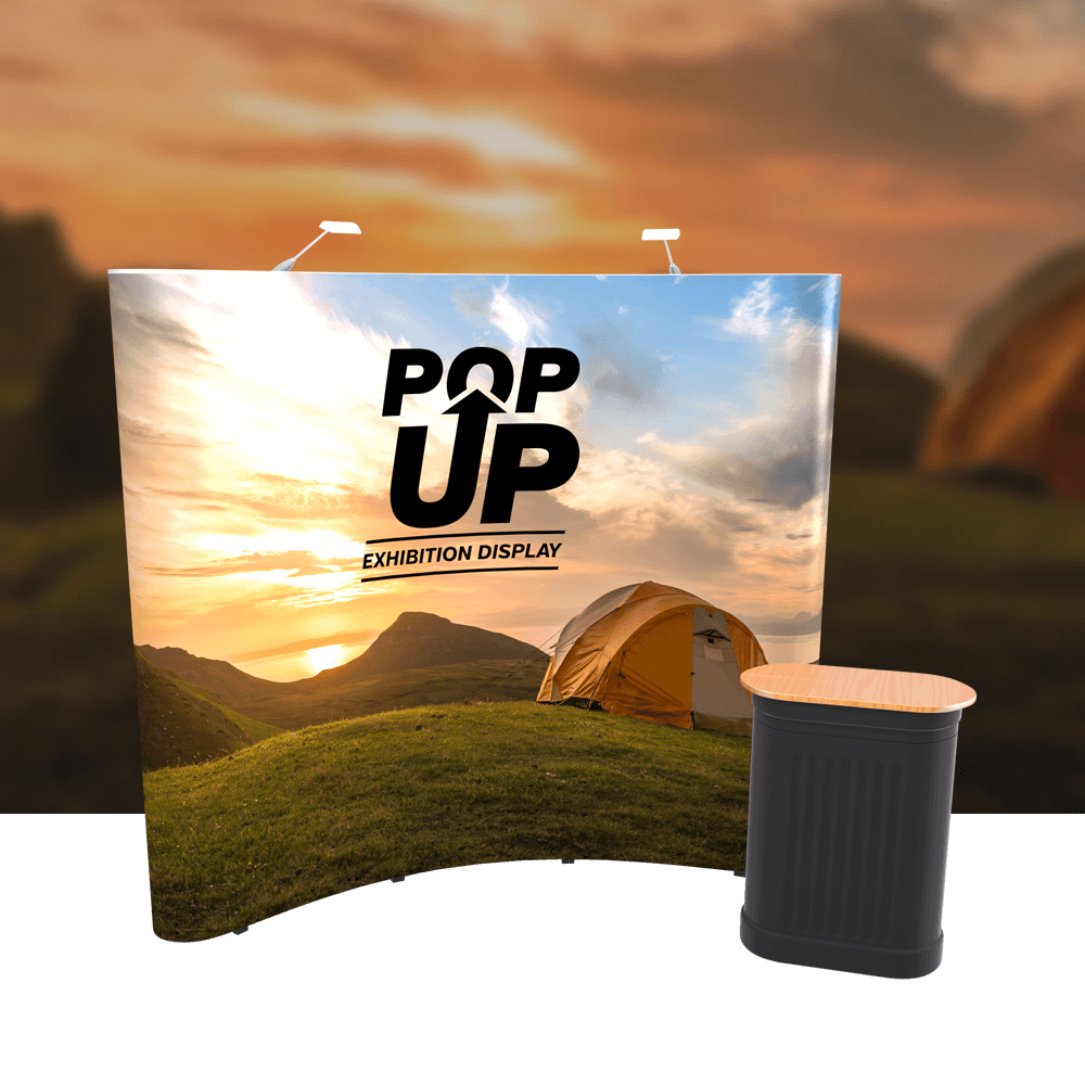 3x3 Curved Pop-Up