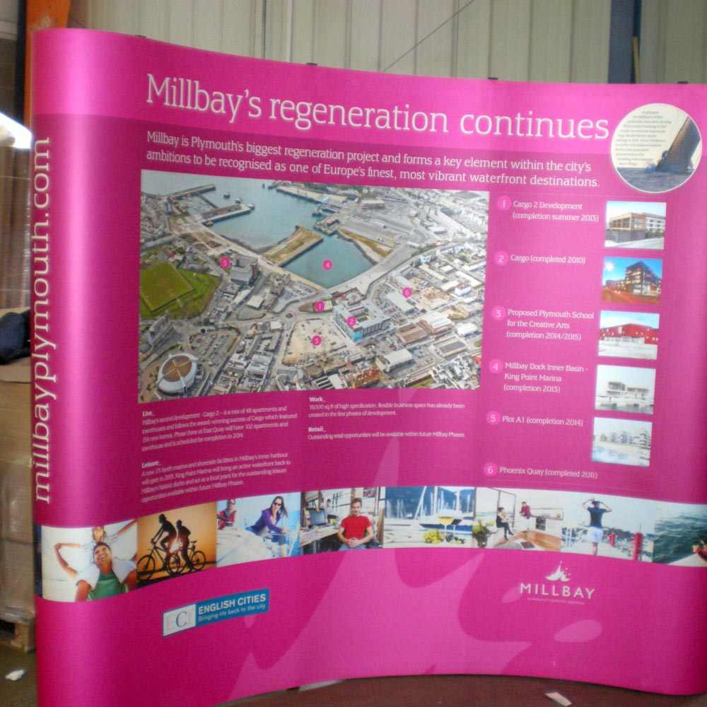 Pop Up Curved - Millbay Regeneration