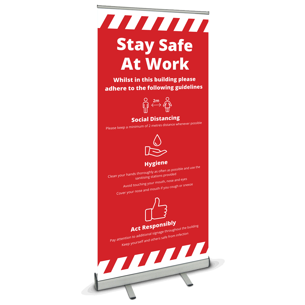 850 Roller Banner - Safety At Work Alert