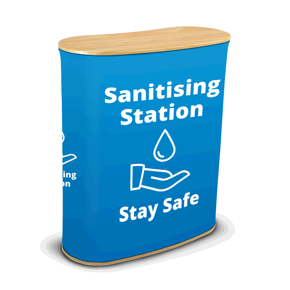 Sanitising Station - Seg Blue