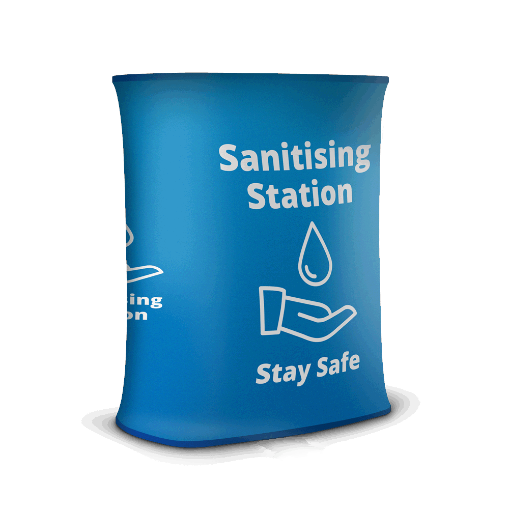 Sanitising Station - Stretch Blue