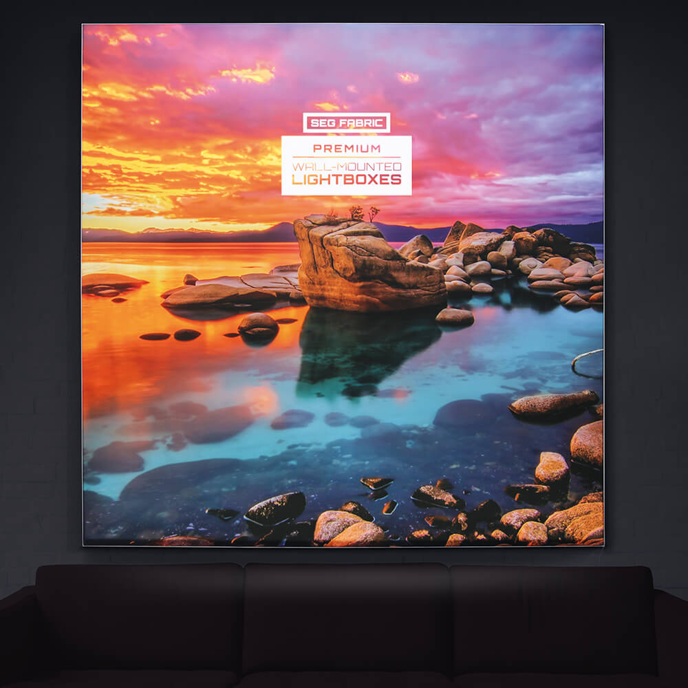 Premium SEG Wall Mounted Lightbox -  Lights On