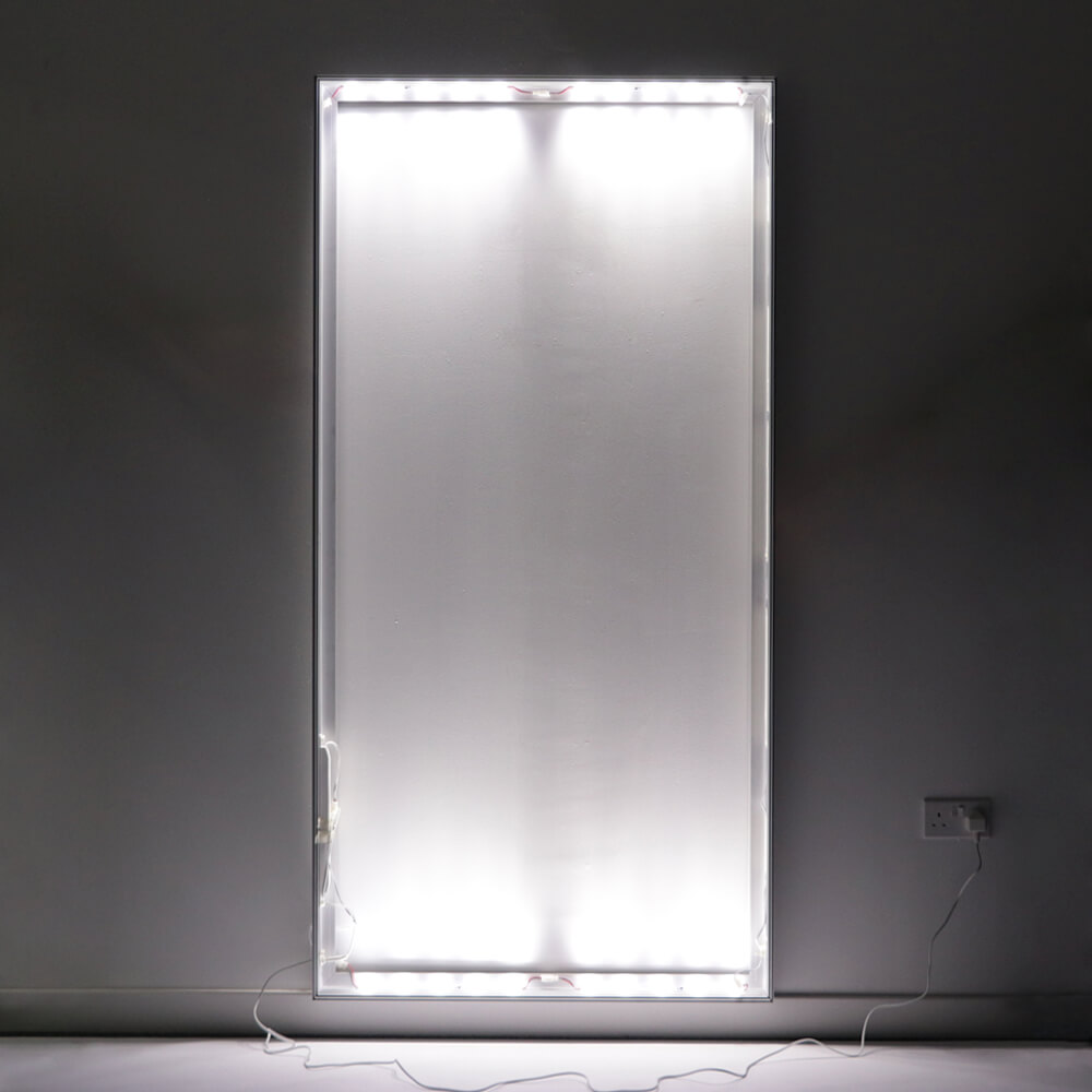 Standard SEG Wall Mounted Lightbox - Wall Lights On In Dark Room
