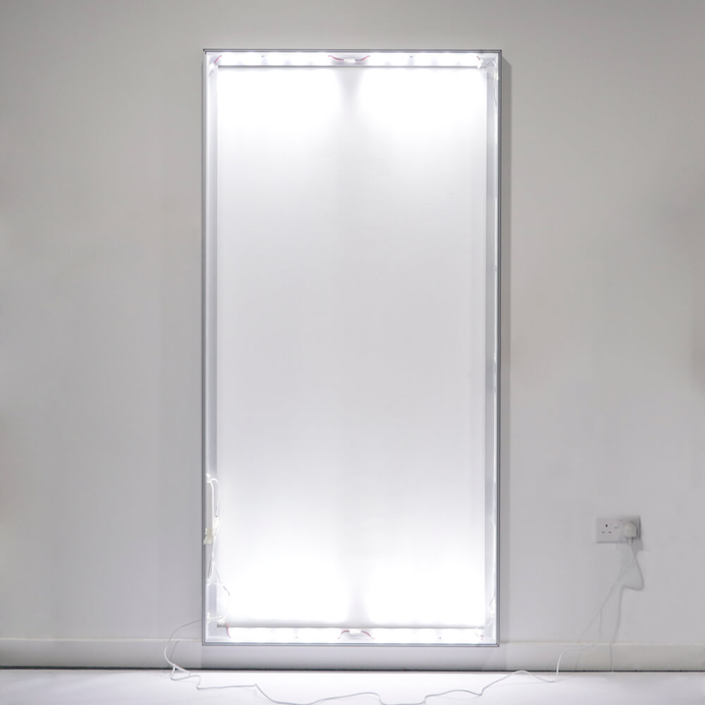 Standard SEG Wall Mounted Lightbox - Wall Lights On In Light Room