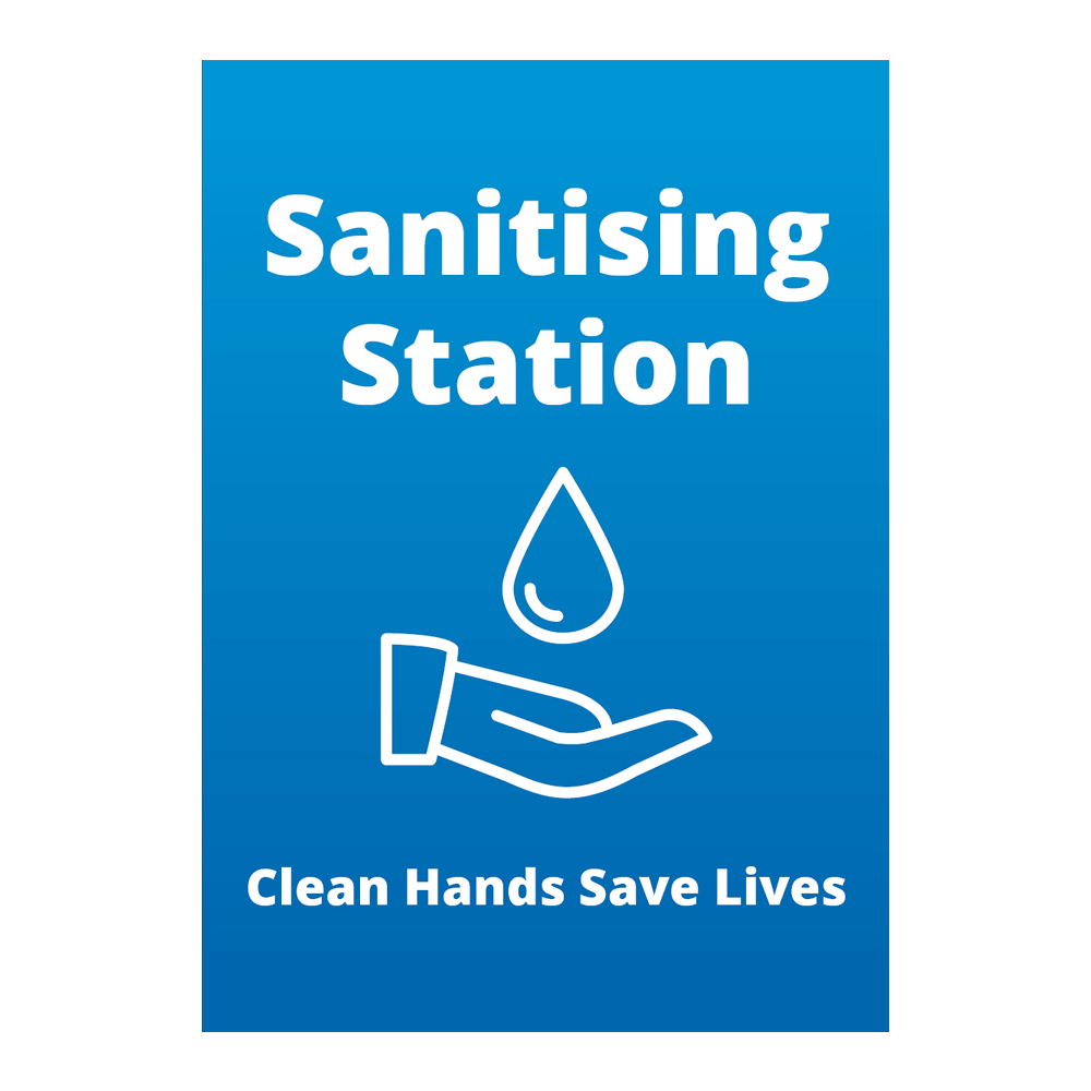 Sign - Sanitising Station - Blue