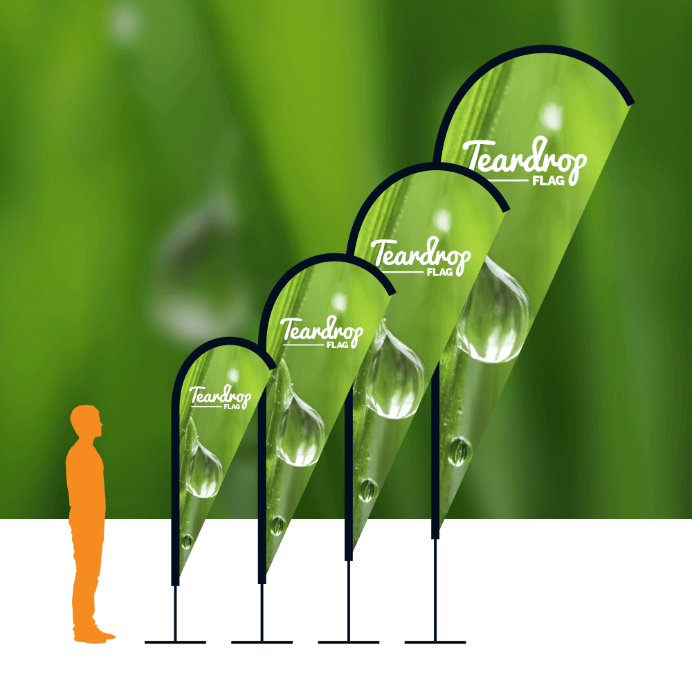 Teardrop product image with background