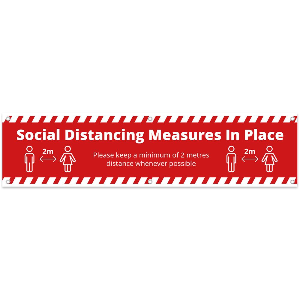 2x0.5 Social Distance Banner - Alert