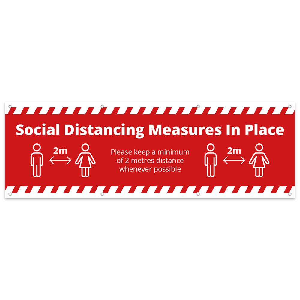 3x1 Social Distance Banner - Alert