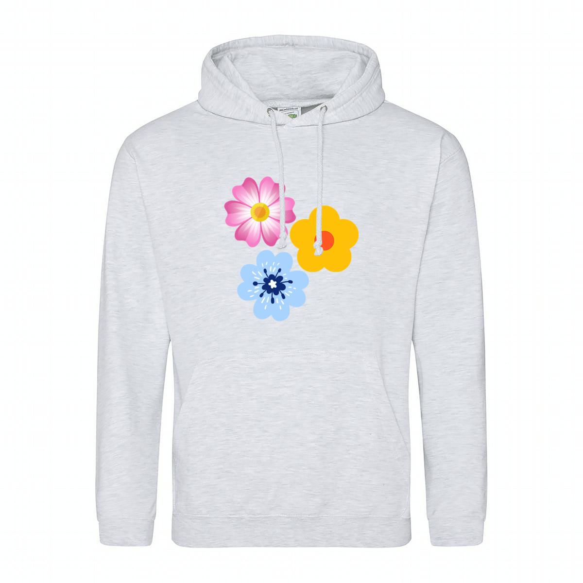 Custom Printed Hoodie - Flowers