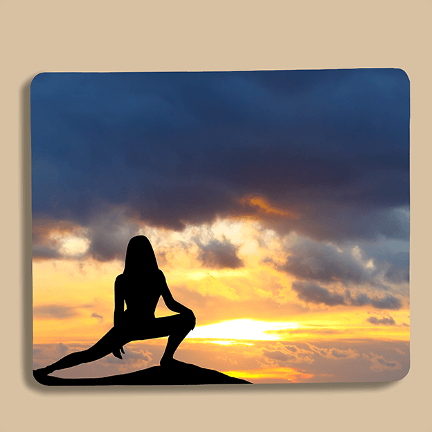 Custom Printed Mouse-Mat - Sunset Silhouette