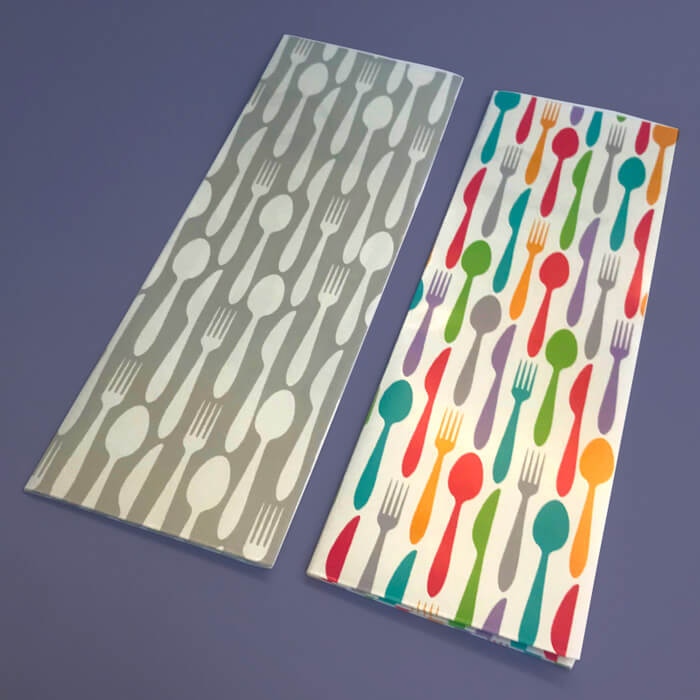 Cutlery Pouches - Designs 1 and 2