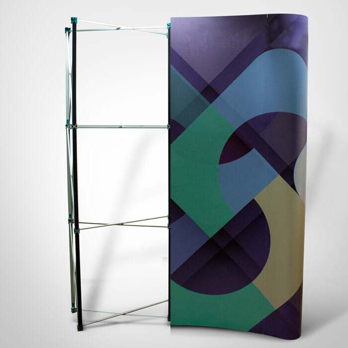 Rigid Display Stand Half Frame And Graphic