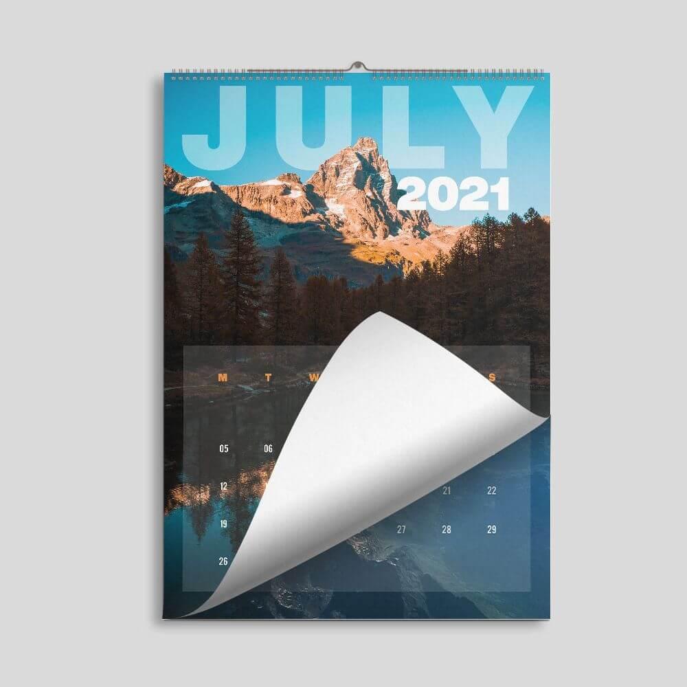 A Size - Short Edge - Wall Calendar