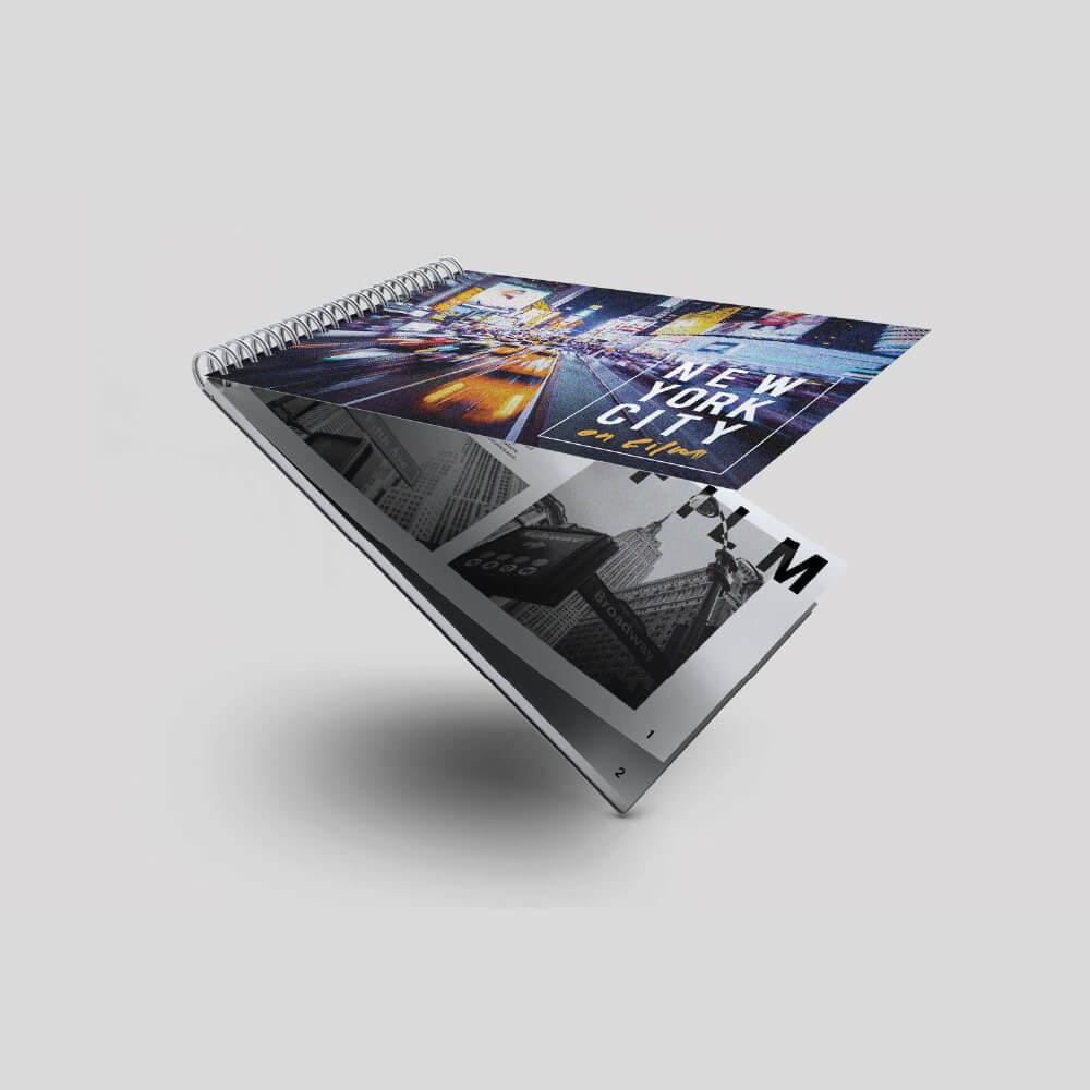 A Size - Short Edge - Wiro Bound Booklet