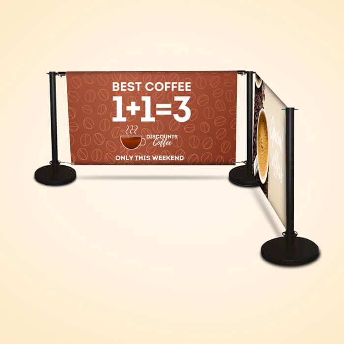 Cafe Barrier Displays