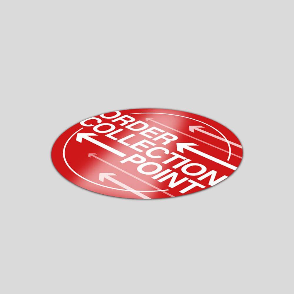 Circle Vinyl Floor Stickers - 1000