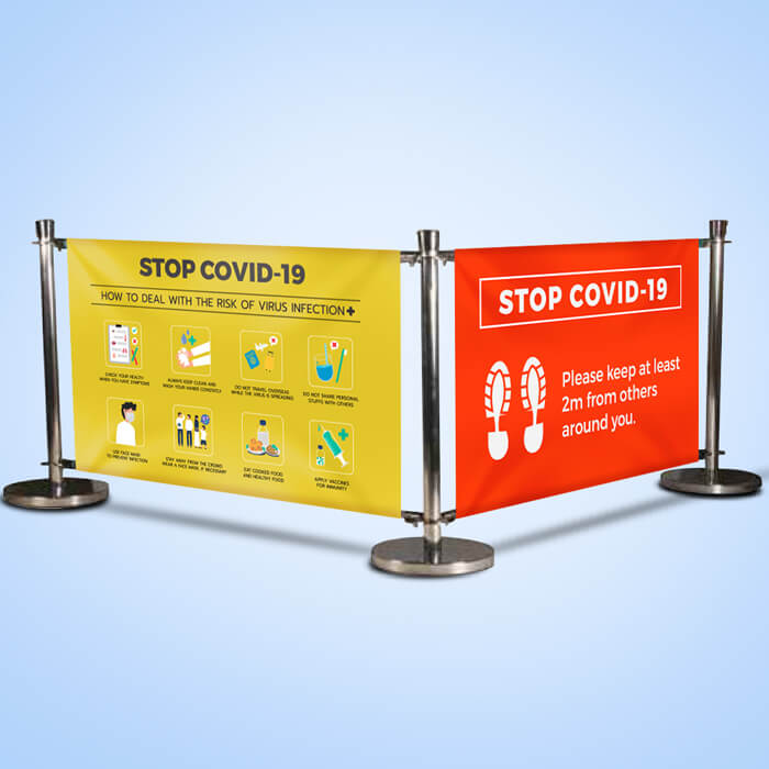 COVID PVC Cafe Barrier