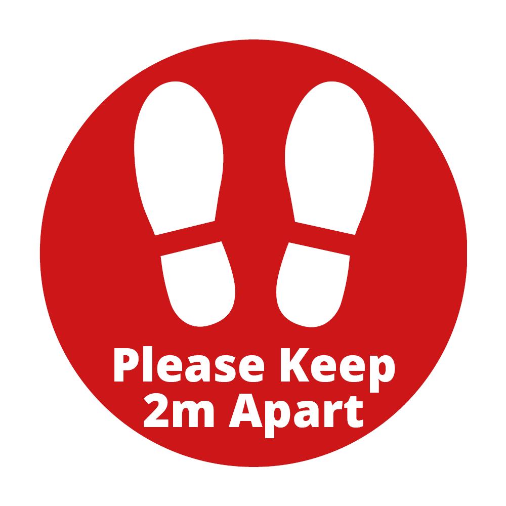 Floor Vinyl - 2m Alert