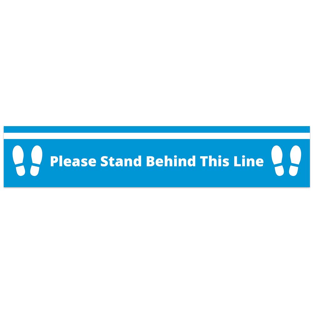 Floor Vinyl - Behind Line Blue