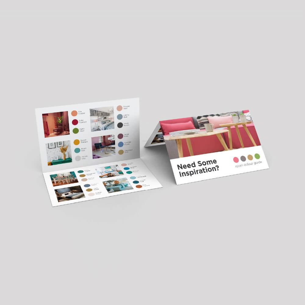 Folded Business Card - Long Edge