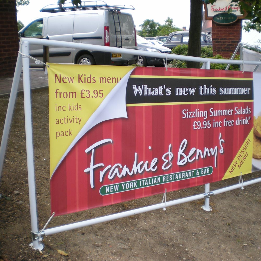 Heavy Duty Banner Frame - Frankie and Bennys