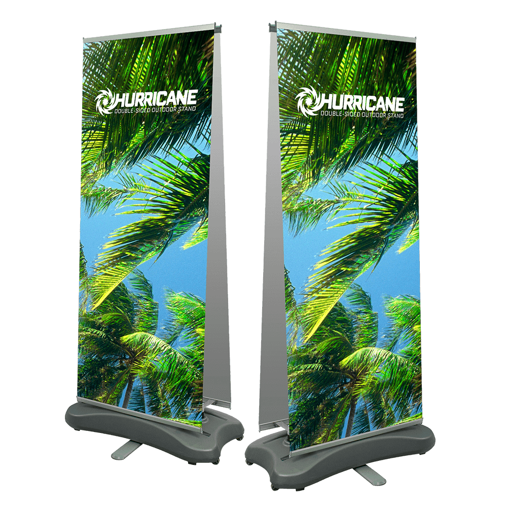 Hurricane Double-Sided Outdoor Stand