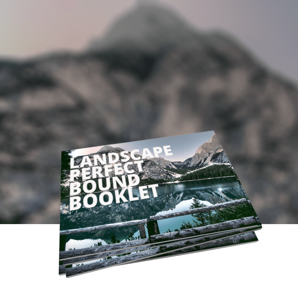 Landscape Perfect Bound Booklets
