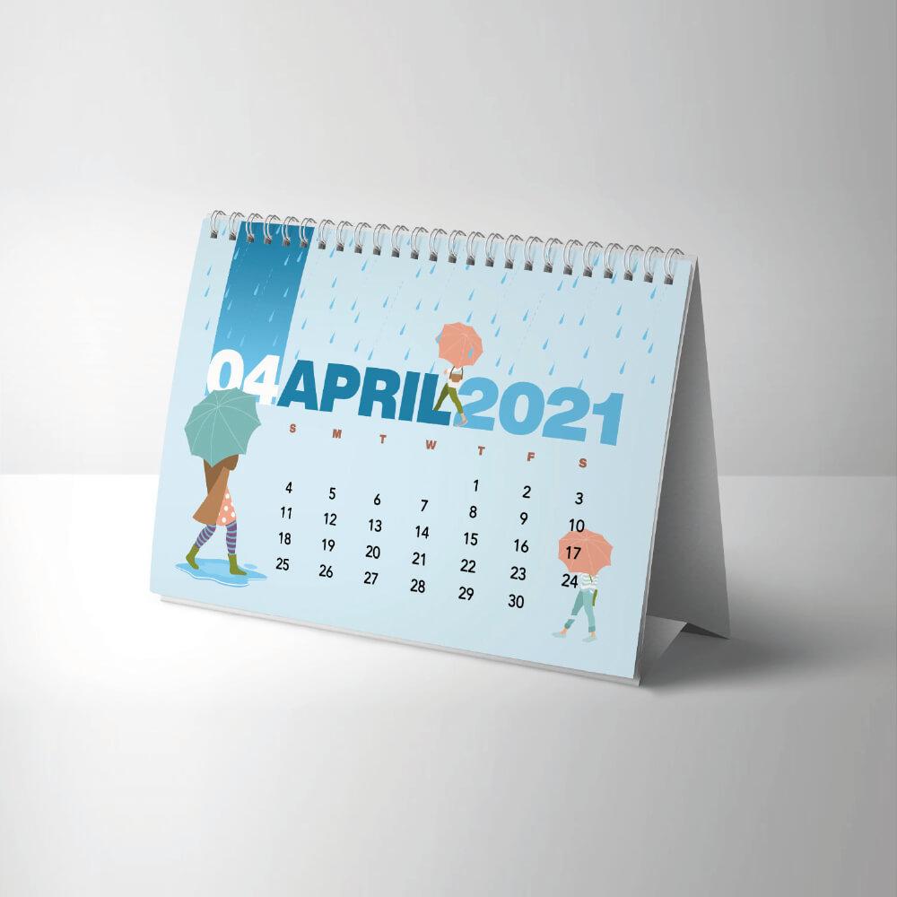 Long Edge Desk Calendar