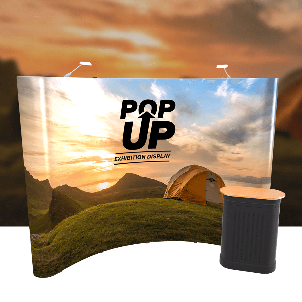 4x3 Curved Pop-Up