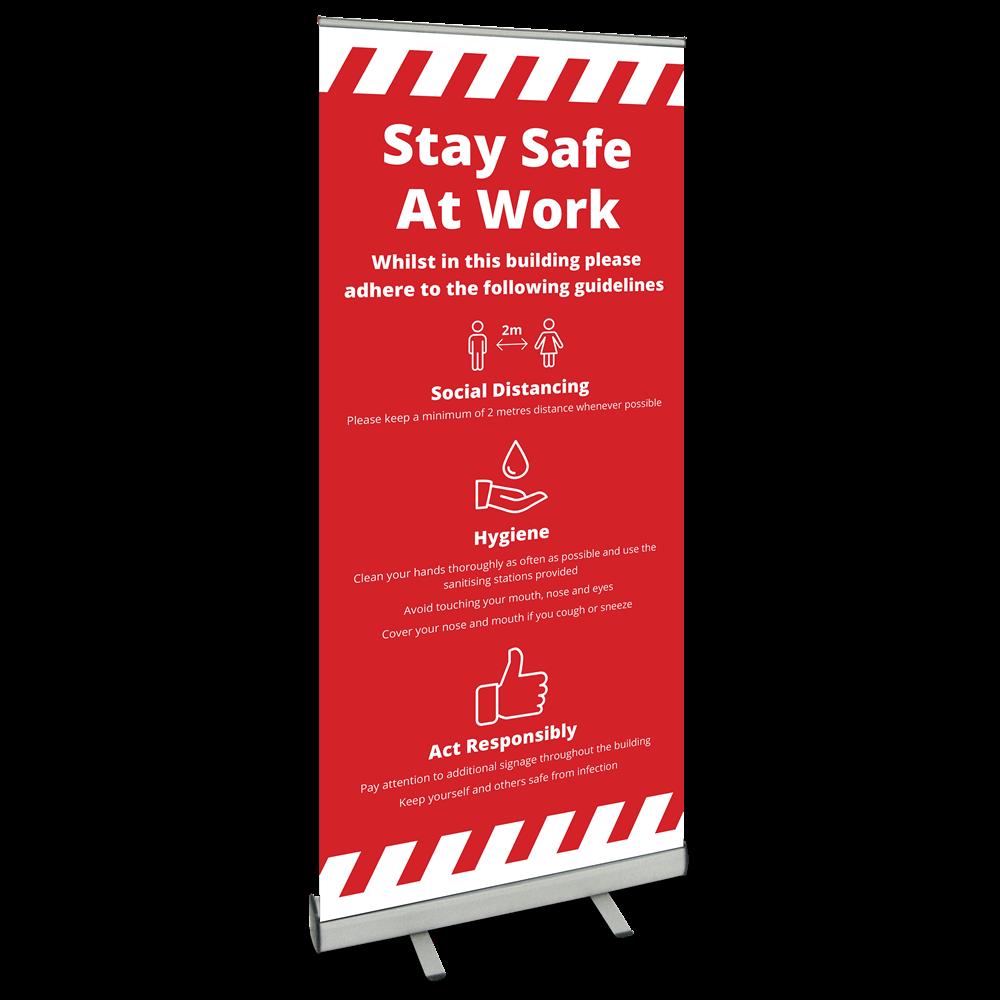 850 Roller Banner - Safety At Work Alert