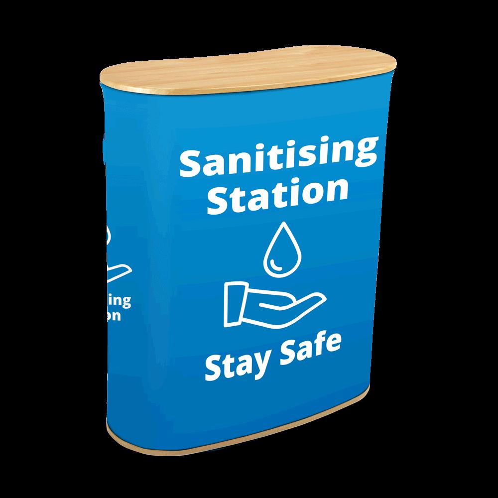 Sanitising Station - Seg Blue