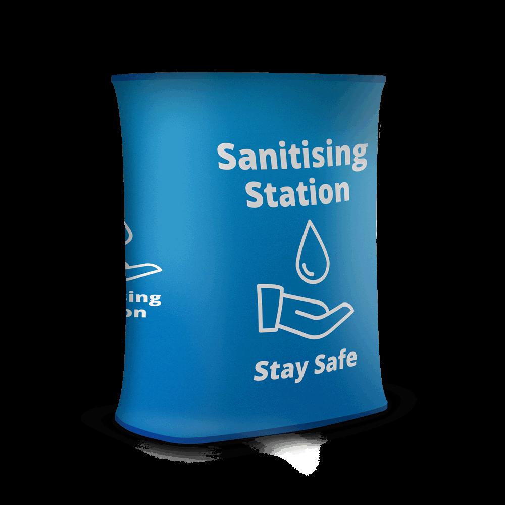 Sanitising Station - Stretch Blue