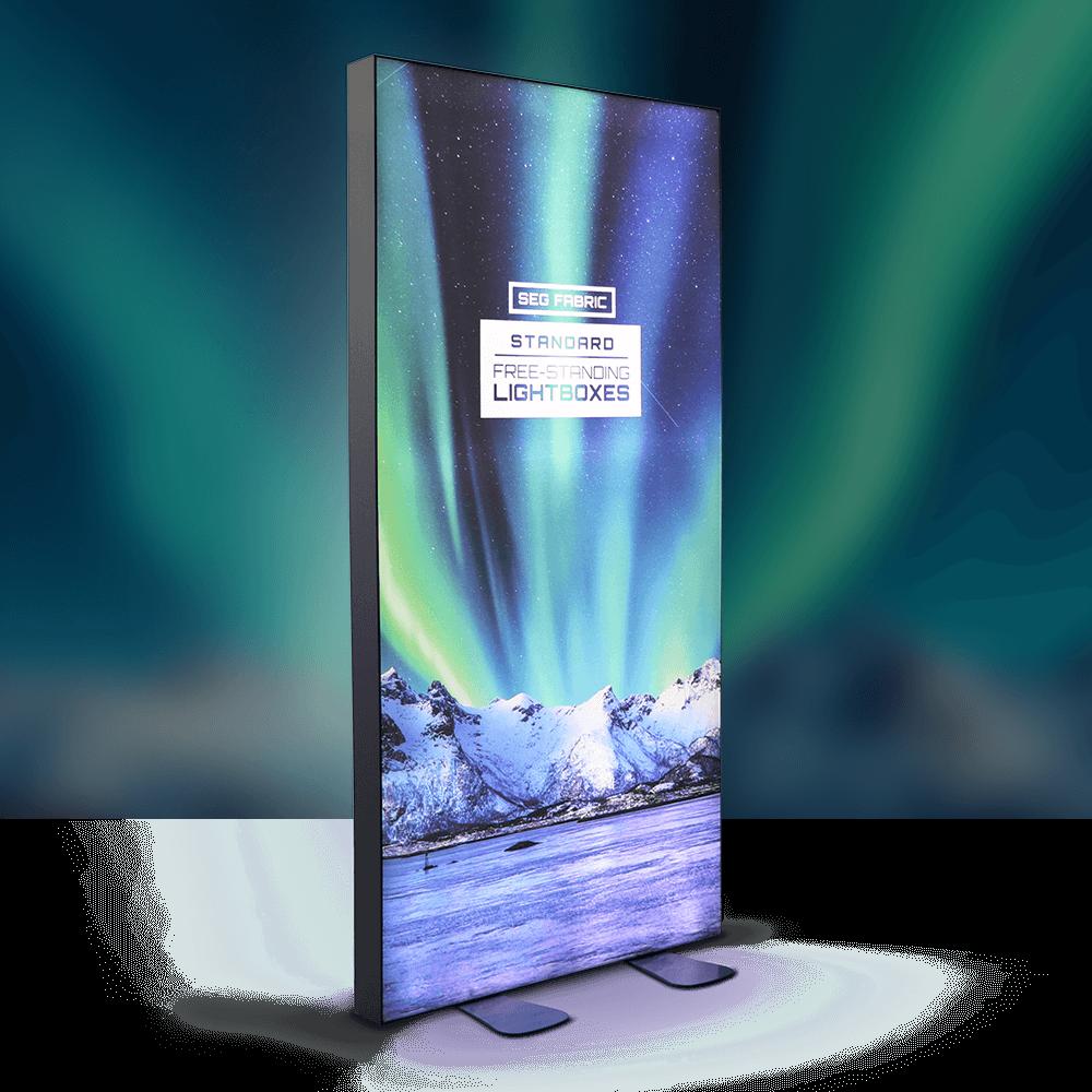 Standard SEG Free Standing Lightbox -  Lights On