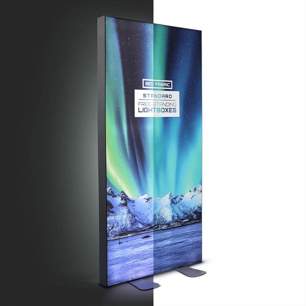 Standard SEG Free Standing Lightbox -  Lights Split