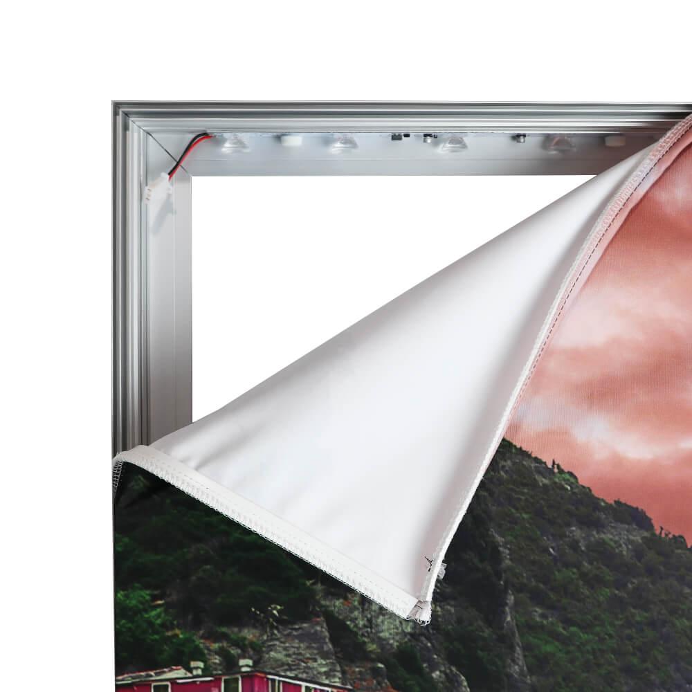 Standard SEG Wall Mounted Lightbox - Corner Peeled