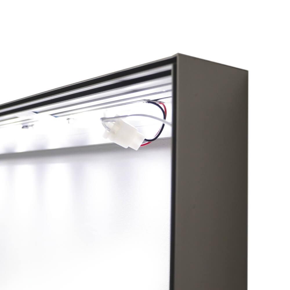 Standard SEG Wall Mounted Lightbox - Lights On