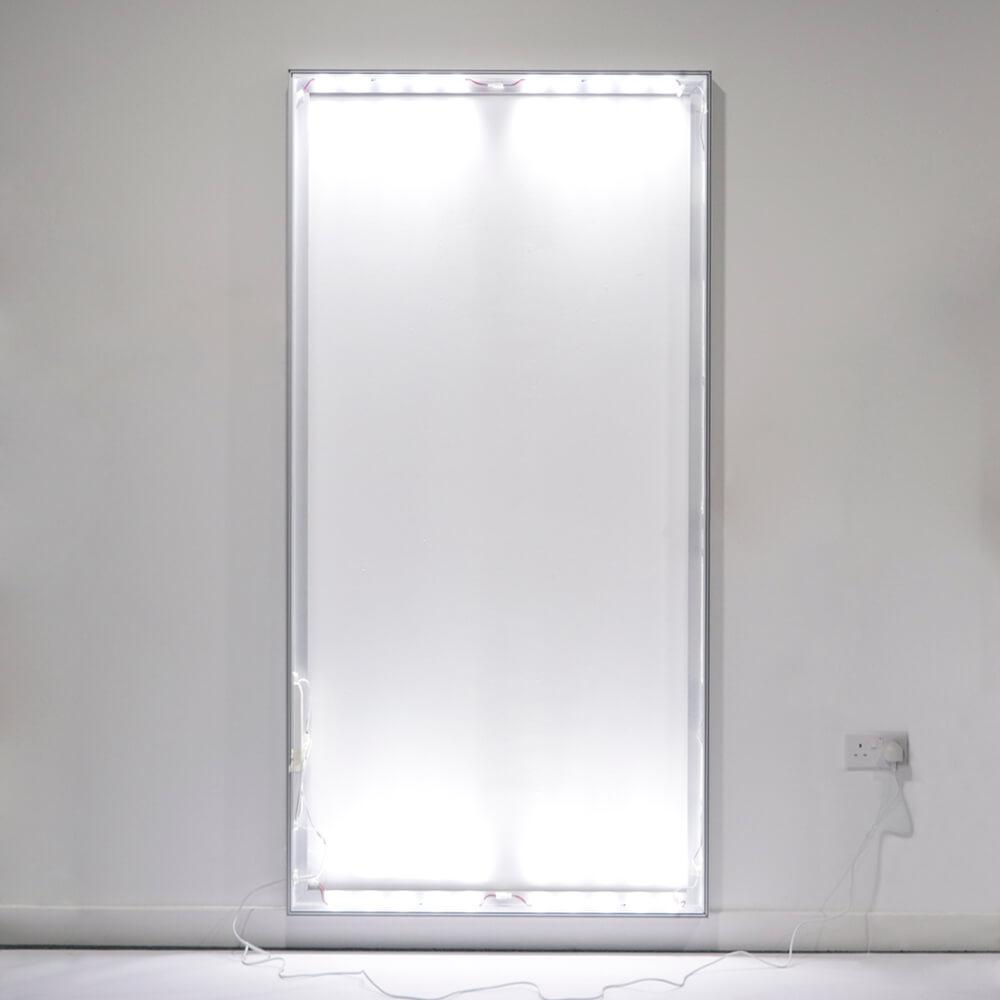 Standard SEG Wall Mounted Lightbox - Wall Lights On In Light Room