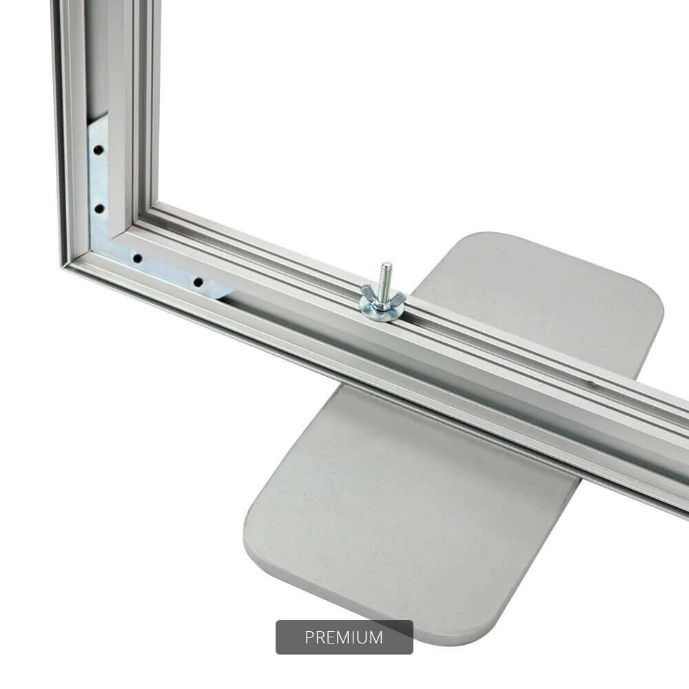 SEG Free-Standing Display - Premium - Detail Frame Bottom Corner And Feet