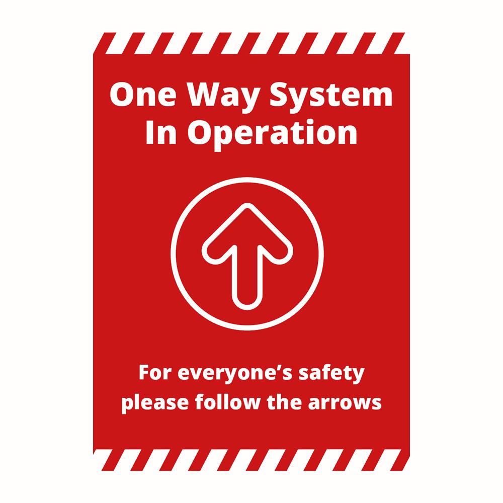 Sign - One Way Alert