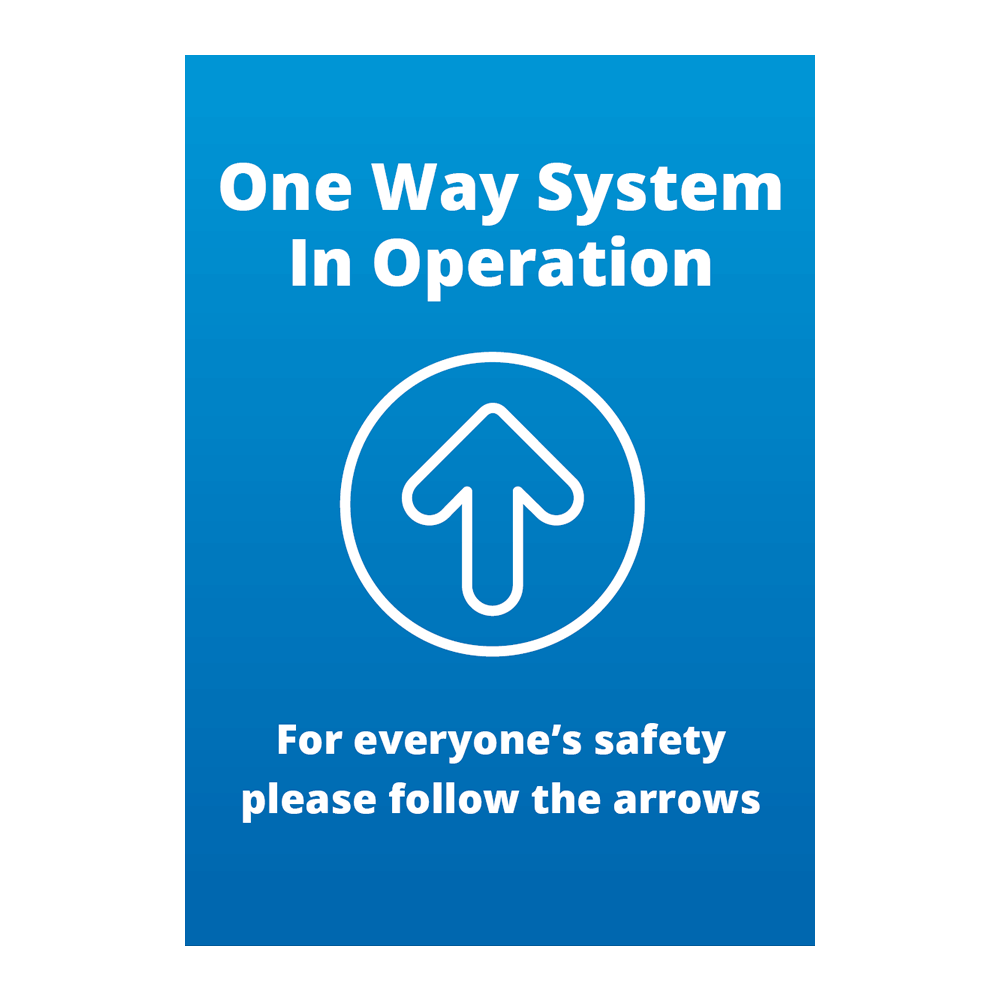 Sign - One Way Blue