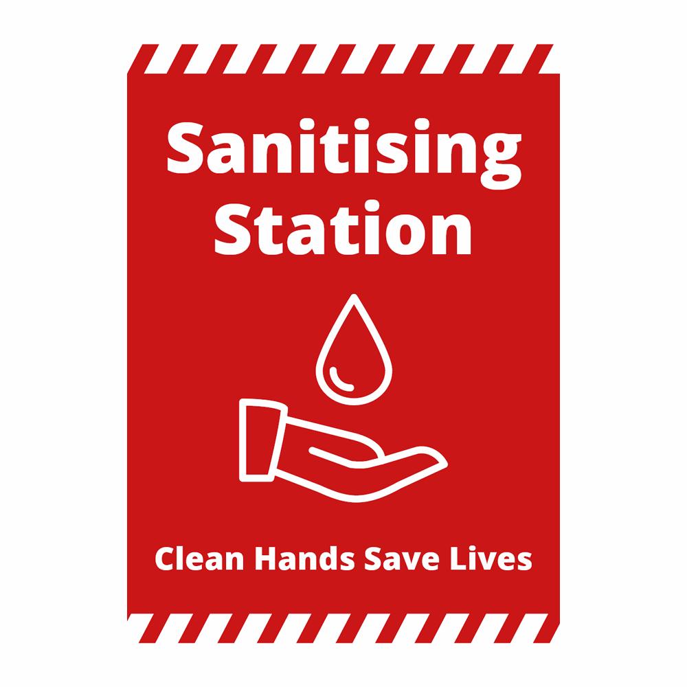Sign - Sanitising Station - Alert