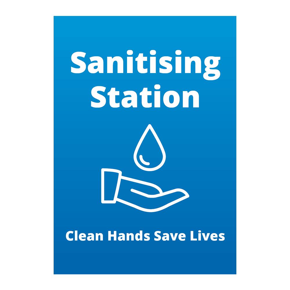 Sign - Sanitising Station - Blue