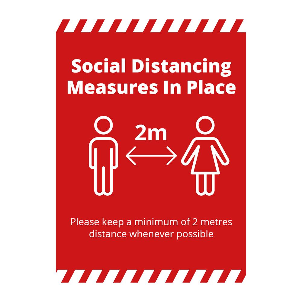 Sign - Social Distancing Alert