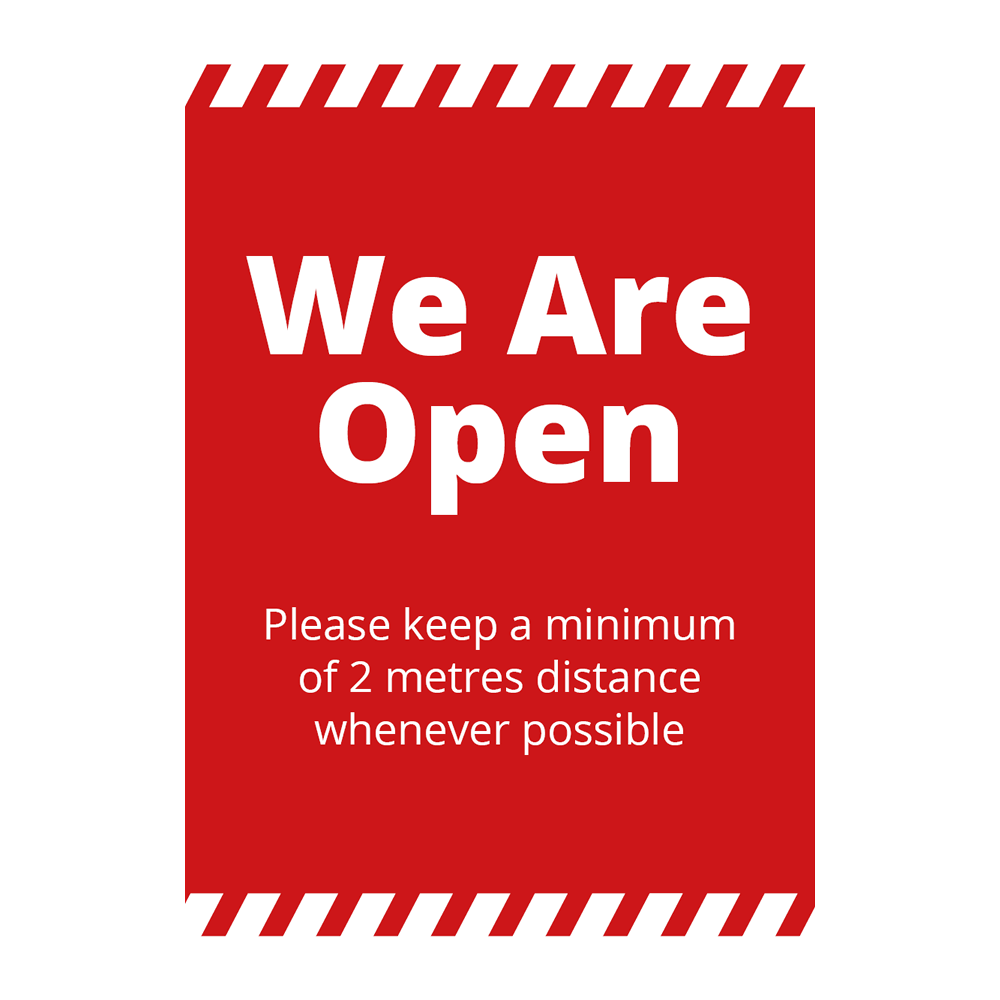Sign - We Are Open Alert