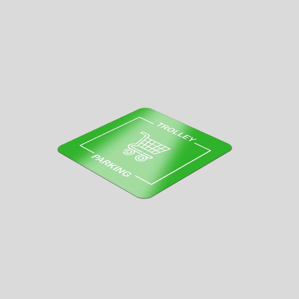 Square Vinyl Floor Stickers - 500