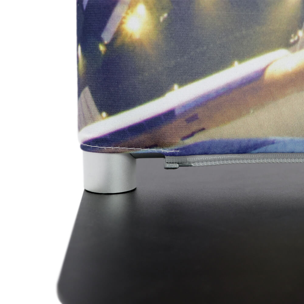 Stretch Fabric Premium Stand Detail Base And Zip Straight