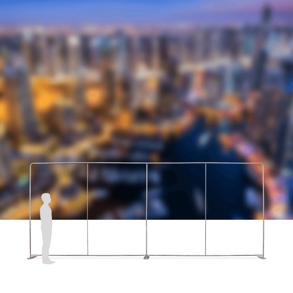 Stretch Fabric Wall Straight - 6m Frame